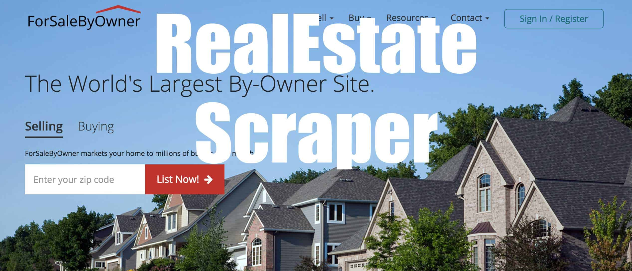 Forsale By Owner real estate scraper